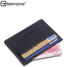 Leather Soft Men Wallet Cash Pocket Small Credit Card Holder Mini Card Case