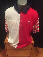 Antigua Polo Short Sleeve Size Mens XL Buick Classic Golf Color Blocked Vintage