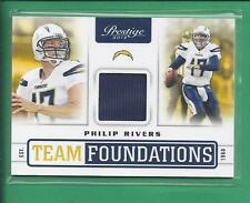 2012 Prestige  player Game worn Team Foundations PHILIP RIVERS Chargers