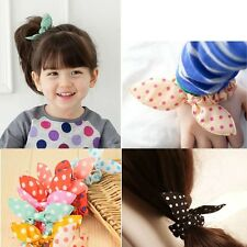 Women Lady Rabbit Ear Scrunchie Hair band rope Elastic Tie Ponytail Holder