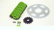 2004 2005 2006 Kawasaki KFX400 KSF400 Green Chain And Sprocket 14/40