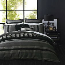 Carter Graphite King Size Bed Duvet Doona Quilt Cover Set Ultima Logan and Mason