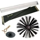 Chimney Sweeping Brush and 12pc Drain Rod Cleaning Set
