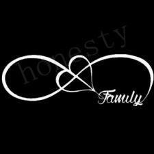FAMILY LOVE HEART INFINITY FOREVER SYMBOL VINYL DECAL CAR WINDOW BUMPER STICKER