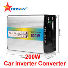 NEW 200W USB 12V DC to AC 220V Car Auto Vehicle Power Inverter Adapter Converter
