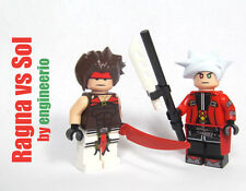 LEGO Custom Minifigure Blazblue Ragna vs Sol ninja knight sword video game