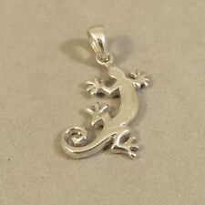 .925 Sterling Silver 3-D Small GECKO Pendant NEW Animal Reptile Lizard 925 PW63