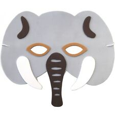 12 Foam Elephant Masks - Childrens Safari Animal Masks