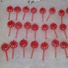 30 Pink Mini Sugar Coated Lollipop  Christmas Tree Ornaments Candy