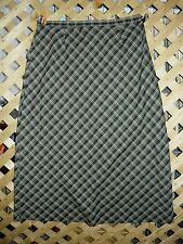 Requirements Long Black & Green Plaid Polyester Blend A-Line Skirt Size 16 NEW