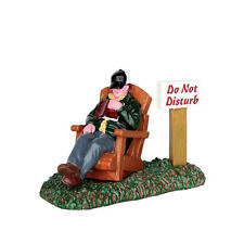 "LEMAX CHRISTMAS VILLAGE ACCESSORIES - ""AFTERNOON NAP"" PEOPLE FIGURE #62457"