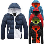 Men's Slim Casual Warm Jacket Hooded Winter Thick Coat Parka Overcoat Hoodie New