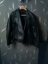 womens leather jacket size 20