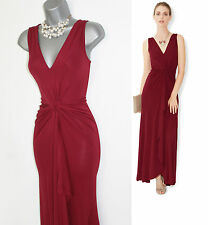 MONSOON Red Jersey Cath Twist Front V Neck Cocktail Maxi Dress UK 8 / EU 36 £119