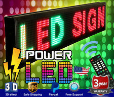"THREE COLOR LED SIGN 19"" x 52"" RGY PROGRAMMABLE SCROLLING MESSAGE BOARD USA"