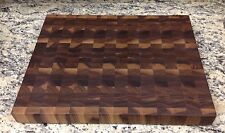 Black Walnut Butcher Block Cutting Board NEW End Grain 14 X 18 Sap Pattern