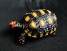 1:1 Cherry Red Foot Footed Tortoise Turtle Resin Finished Model Figurine