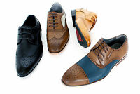Brand New Mens Gents Designer Leather Lined Casual/Formal Lace Up Brogues Shoes