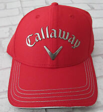 Callaway ODYSSEY Liquid Metal Adjustable Tour Golf Cap - One Size - Red - BNWT