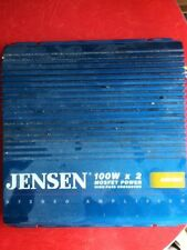 Jensen A222HX 100 Watt Mosfet Power Amplifier Amp 2 Ch Sub Hi Pass Crossover