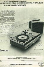 Publicité advertising 1972 Hi Fi Chaine stereophonique RH 814 Philips