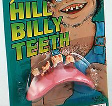 Conjunto de falsos Dientes Hill Billy Bob Goofy Rojo Cuello Fancy Dress Accesorio
