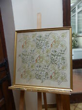 VICTORIAN ART NOUVEAU  CREWELWORK PICTURE FREE SHIPPING