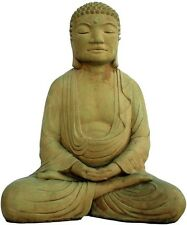 Cast Stone Meditating Buddha Home Garden Statue Outdoor Patio Lawn Art Sculpture