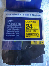1 Brother TZ  651 BLACK YELLOW Label Tape Compatible TZe 651 26 ft 24mm