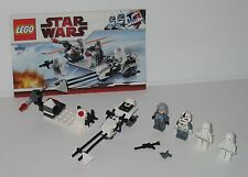 8084 LEGO Star Wars Snowtrooper Battle Pack 100% cmplte w Manual GREAT COND 2010