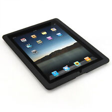 Black Silicone Skin Case Rubber Cover Pouch for Apple iPad 2 Protective Guard