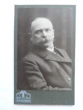 CDV-Foto -München- Portrait - Herr  mit Schnauzbart  (E518)