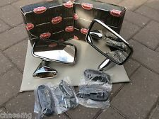 Ford Escort Stainless Steel  Door Mirrors R/h, L/Hinc mnts genuine tex draw5-1