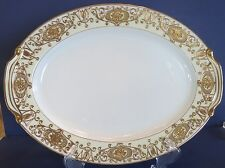 Noritake Pattern Gold Christmas Ball ~ Large Oval/Meat  Platter 175 ~ Pristine