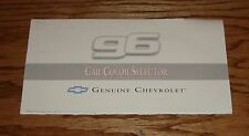 Original 1996 Chevrolet Car Exterior Colors Brochure 96 Camaro Corvette