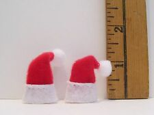 DOLLHOUSE  FASHION DOLL MINIATURE CHRISTMAS SANTA HAT ACCESSORY LOT OF 2 SMALL
