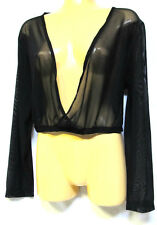 plus sz 22 (L) TS TAKING SHAPE Ballet Wrap see-thru sheer sexy crop jacket NWT!