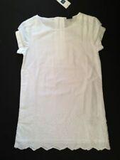 NWT GAP Kids Girl Optic White Eyelet Shift Dress XS 4 5 Portrait Easter NEW