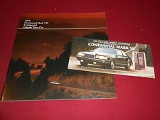 1985 LINCOLN MARK VII HUGE 60 p. PRESTIGE CATALOG +MARK VII CELL PHONE BROCHURE