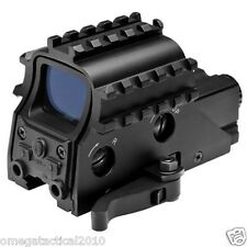 NcStar Armored Rail Sight System QR 2 MOA Green Dot Reflex Sight w/ Red Laser