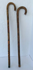 2 Antique carved Native American canes Folk art walking sticks