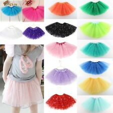 Girls Child Princess Tutu Skirt Star Sequins Ballet Wear Dance Dress Clothes