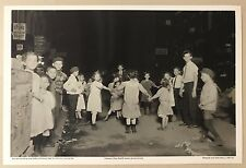 PHOTO: CHILDREN PLAY IN STREET, NIGHT,NEW YORK LOWER EAST SIDE TARBOX BEALS 1910