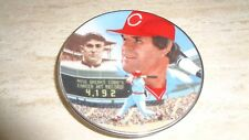 "1985 Gartlan Baseball Mini Plate - 3 1/4"" - Pete Rose - Cincinnati Reds"
