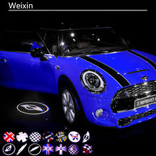 2X LED Car Step Logo Welcome Lights Laser Shadow Door Projector For Mini Cooper