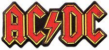 """AC/DC lightning bolt logo (large) 8"""" IRON-ON PATCH Official Licensed p1978"""