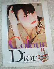 1977 ad page - Christian DIOR cosmetics COLOUR nails lips sexy girl PRINT ADVERT