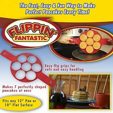 Nouveau Flipping Fantastic Nonstick Pancake Maker Egg Ring Maker Easy Fasy Hot