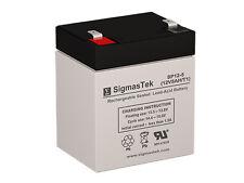 SigmasTek Replacement 12V 5 AH F1 SLA Battery For Yuasa NP4-12 Battery