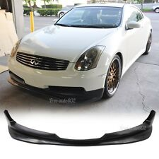Fit For 03-07 Infiniti G35 2Dr Coupe GT Style Front Bumper Lip PU